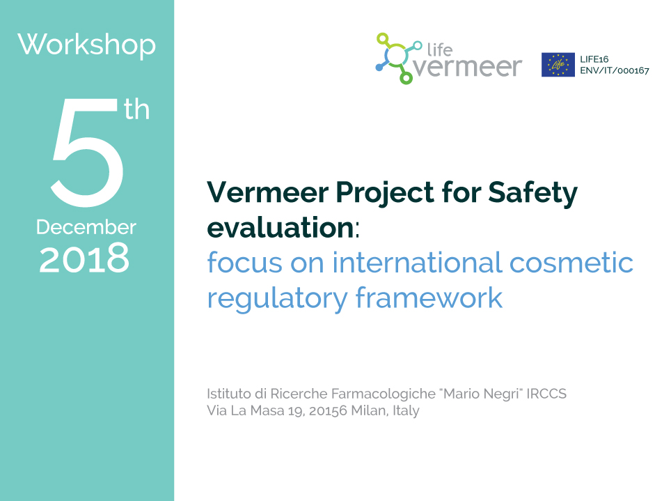 Workshop Vermeer Project for Safety evaluation: focus on international cosmetic regulatory framework