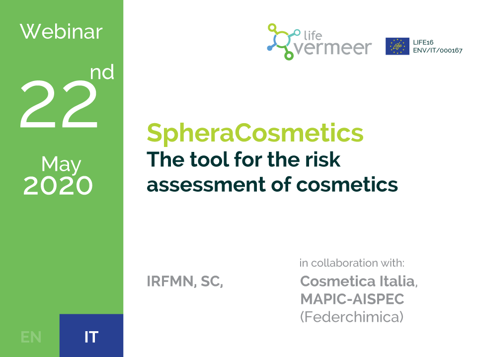 Webinar: SpheraCosmetics - The tool for the risk assessment of cosmetics